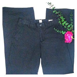 EUC black wide leg trousers